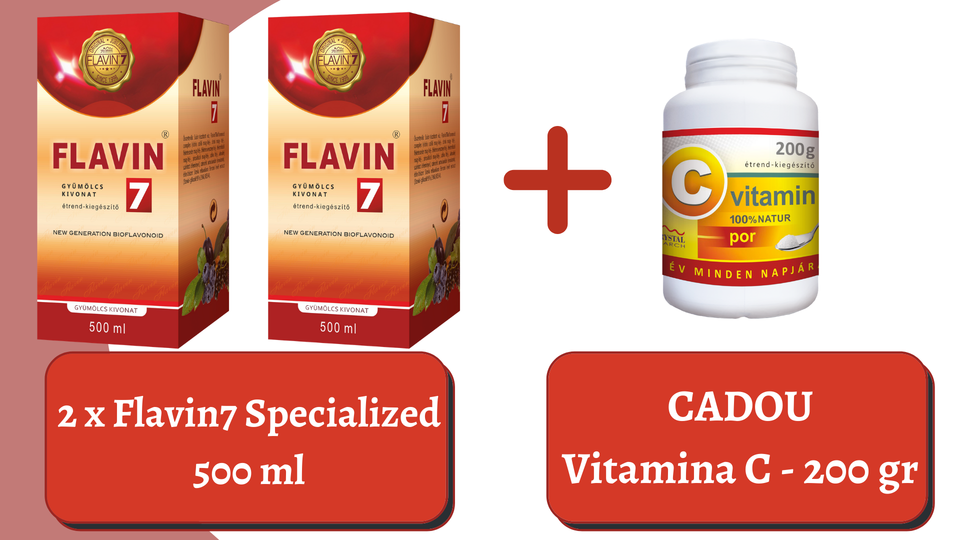 PROMO 2x Flavin7 Specialized + Vitamina C 200gr. pulbere