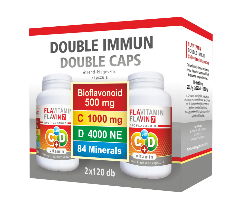Flavitamin Double Immun C+D vitamin 2x120 caps.
