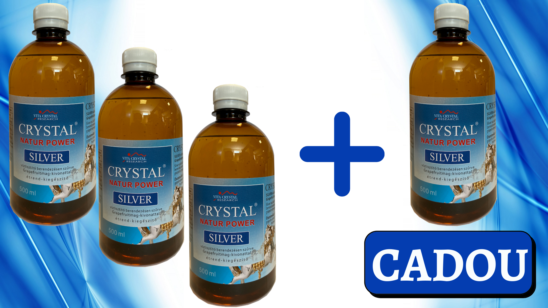 PROMO CRYSTAL SILVER 500 ml 3+1